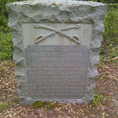 Moores Creek Bridge Monument, Moores Creek National Battlefield.  Photo courtesy of Erin Corrales-Diaz.