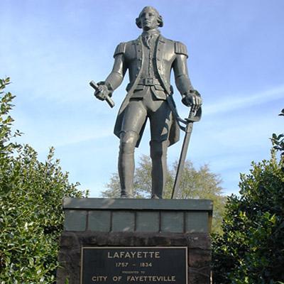 Lafayette Monument, Fayetteville. Photo courtesy of Waymarking.org
