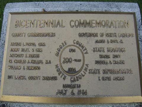 Moore County Bicentennial Commemoration, Carthage. Photo courtesy of Markeroni.com