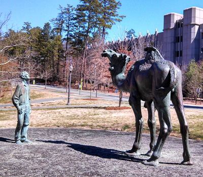 The Scientist and Nature (Duke Camel), Duke University, Durham.  Photo courtesy of Kelly J. Agan
