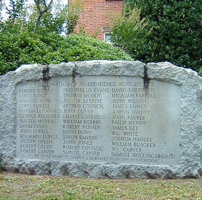 Liberty Point Resolves Declaration of Independence, Fayetteville. Courtesy of Waymarking.com.
