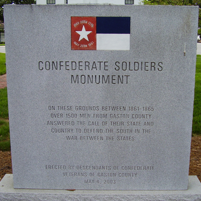 Monument to Gaston County Confederate Soldiers, Dallas. Photo by Stanley and Terrie Howard, May 2, 2009, courtesy by HMdb.org