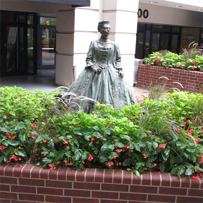 Queen Charlotte Walks in Her Garden, Charlotte.  Photo courtesy of Jasmin Howard.