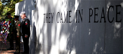 Beirut Memorial, Jacksonville.  Image courtesy of the Official Website of the United States Marine Corps.  Photo by Lance Cpl. Scott W. Whiting.