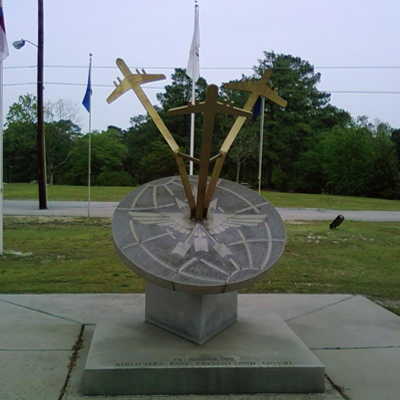 Airlifters Memorial, Pope Air Force Base, Fort Bragg. Photo by Lee Hattabaugh, April 20, 2011, courtesy HMdb.org, (accessed January 14, 2014)