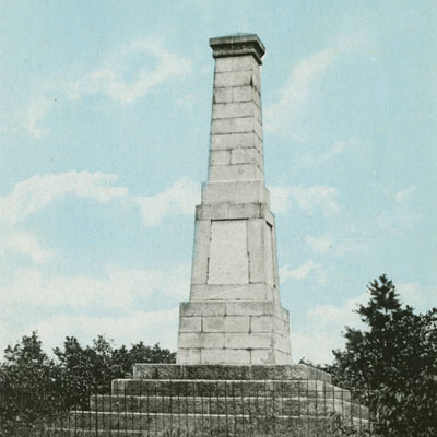 Old Monument of Kings Mountain Battlefield