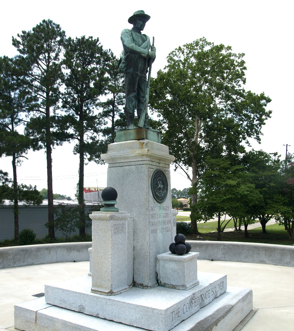 Confederate Soldiers Monument of Kinston-Lenoir.  Image courtesy of the North Carolina Department of Cultural Resources.  Photograph by Tom Vincent.