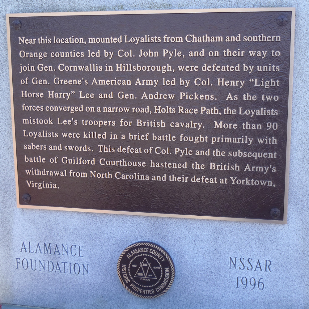commemorative landscapes of north carolina pyle u0027s defeat