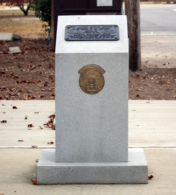 307th Airborne Engineer Memorial, Fort Bragg.  Photograph by Commemorative Landscapes of North Carolina.