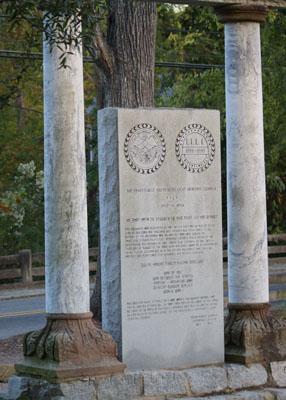 Fayetteville Independent Light Infantry Monument, Fayetteville.  Photograph courtesy of Daniel Jourdan.