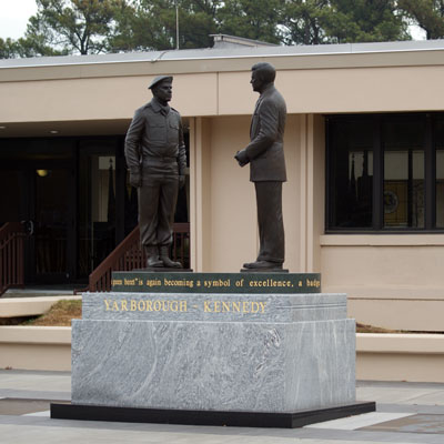 Yarborough-Kennedy Statue, Fort Bragg.  Photograph by Project Staff.