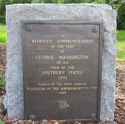 George Washington Tree Marker, Hampstead. Photograph courtesy of Natasha Smith.