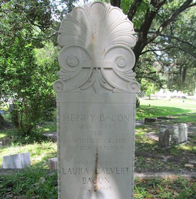 Henry Bacon Grave Marker, Oakdale Cemetery, Wilmington. Photograph courtesy of Natasha Smith