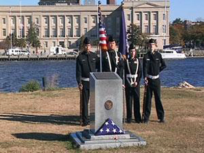Pearl Harbor Memorial, Wilmington.  Photo courtesy of WWAY News Channel 3
