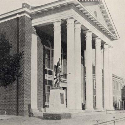 Spirit of the American Doughboy Statue, Nash County Courthouse, Nashville.  Photograph courtesy of Documenting the American South.