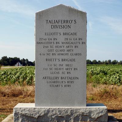 Taliaferro's Division Monument, Averasboro Battlefield, Dunn. Photo courtesy of NC ECHO, Exploring Cultural Heritage Online