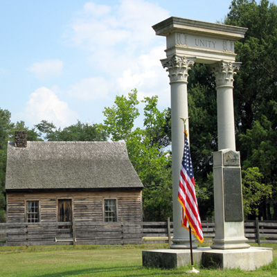 Unity Monument at Bennett Place Historical Site. Courtesy of Bennett Place State Historic Site.