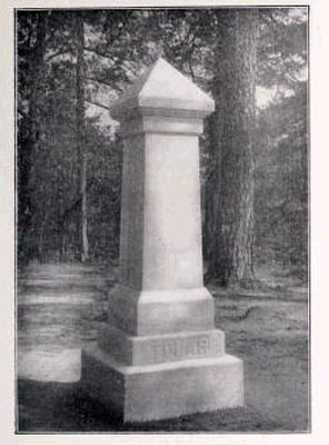 Monument to Nine Confederate Brothers [Tolar Memorial], Cross Creek Cemetery, Fayetteville.  Image from the Confederate Veteran Vol. 21, published 1913.  Presented on Archive.org.