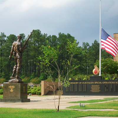 Special Warfare Memorial Statue, Fort Bragg. Photo by Robert Cole, June 3, 2010, courtesy HMdb.org. (accessed January 14, 2014)