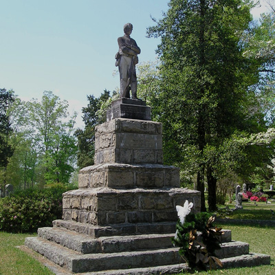Confederate Soldiers Monument, Fairview Cemetery, Warrenton.  Courtesy of the North Carolina Department of Cultural Resources.  Photograph by Tom Vincent.