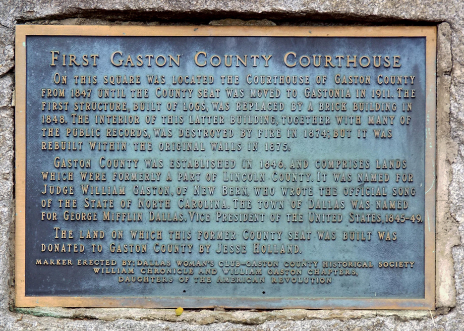Commemorative Landscapes of North Carolina | First Gaston County