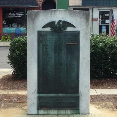 Davidson County WWII and Korean Veterans Memorial, Lexington.  Photograph courtesy of Natasha Smith.