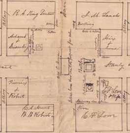 Map showing Henry
