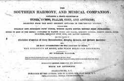 Title page of Southern Harmony, and Musical