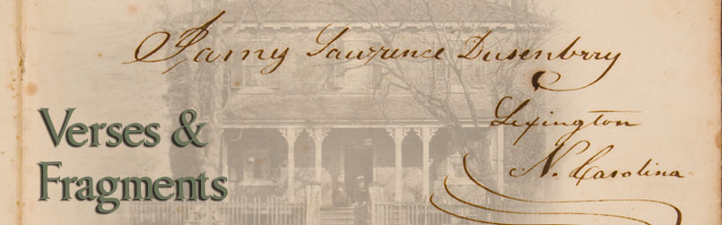 Signature of James L. Dusenbery and several photographs artistically combined.