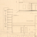 Architectural Drawing- Front Elevation and Longitutinal Section- Winston Winston-Salem