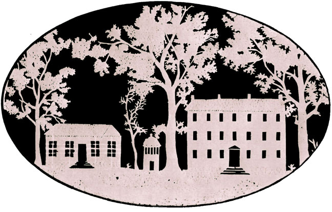 Silhouette of the Campus of the University of North Carolina 1814