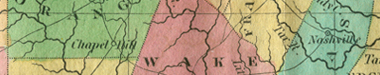 Detail of a Map of North Carolina